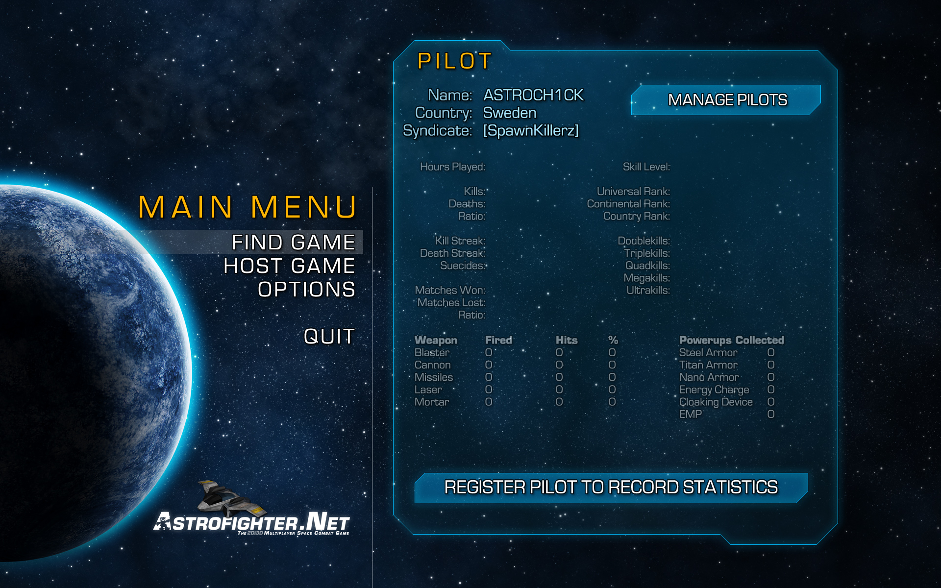 Imphenzia Blog - Game menu design